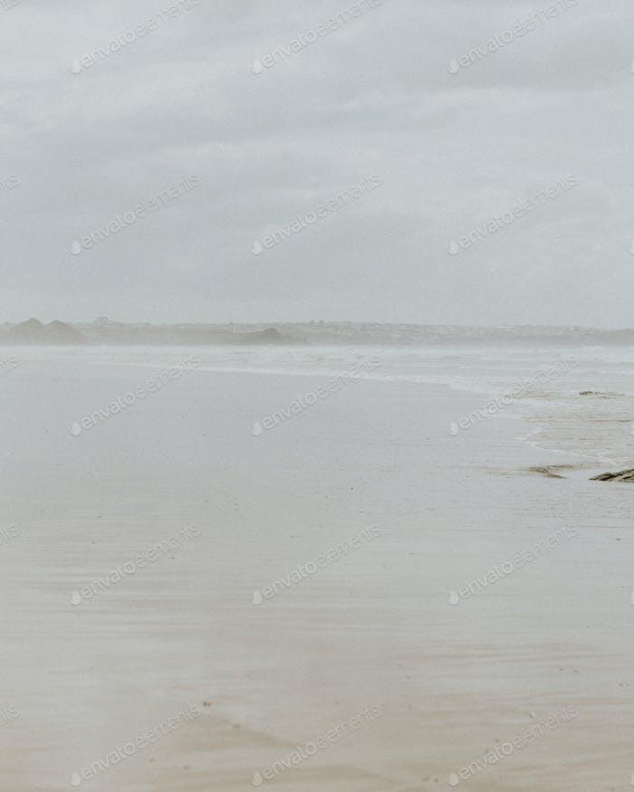 Hazy day at the beach