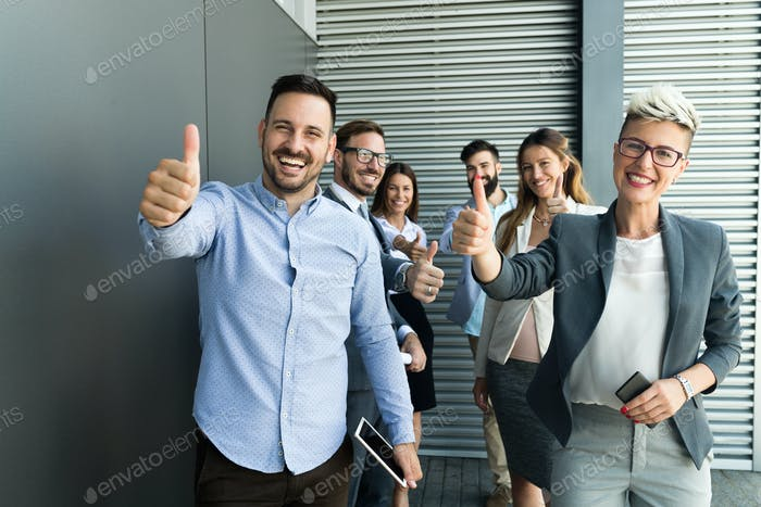 Picture of business people discussing in their company
