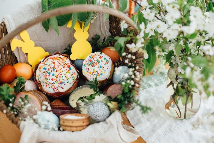 Traditional Easter basket