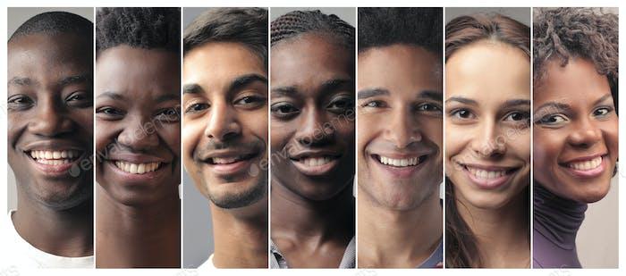 Gente sonriente