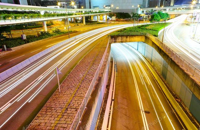 Traffic in night time