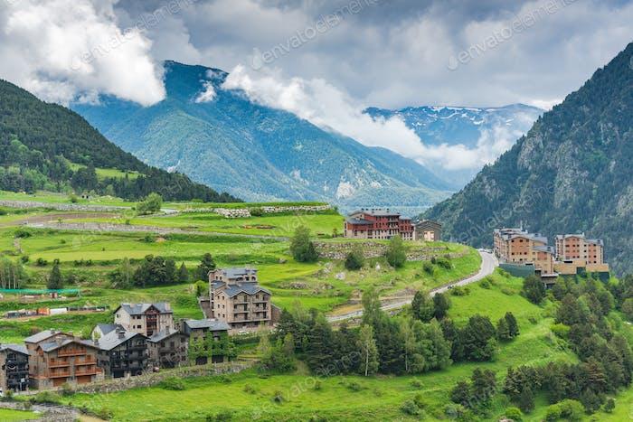 Ländliche Landschaft in Andorra.