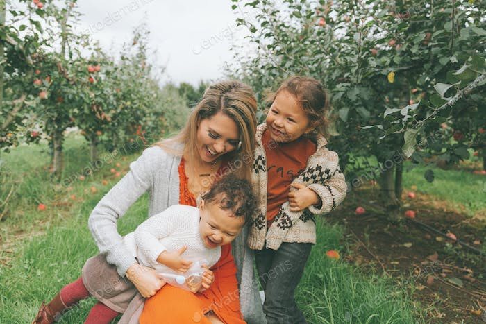Family at the Apple Orchard