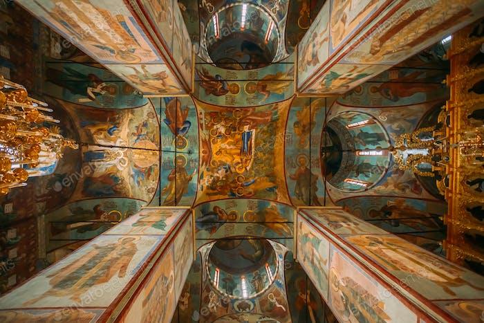 Sergiev posad, Russland. Innere der Entschlafung (Himmelfahrt) Kathed