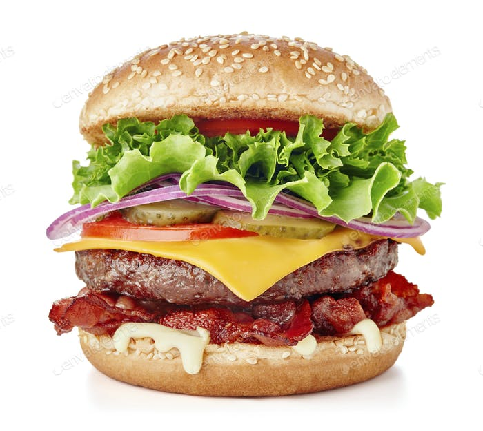 Single fresh burger