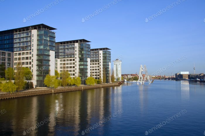 River Spree and the Treptowers