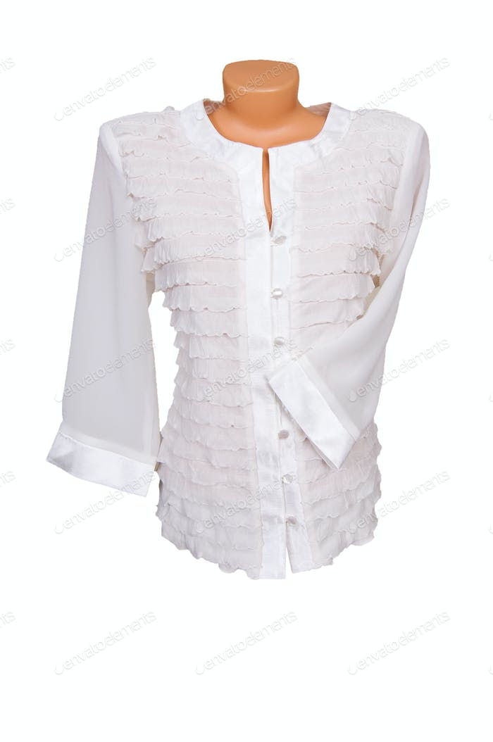 Trendy blouse on a white.