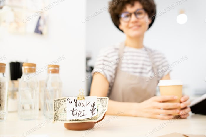 Cup with tag Your tips