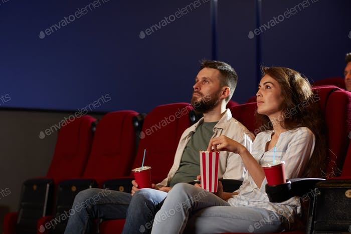 Adult Couple in Cinema