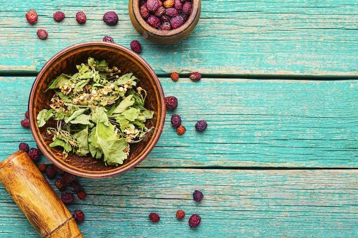 Haw in herbal medicine.