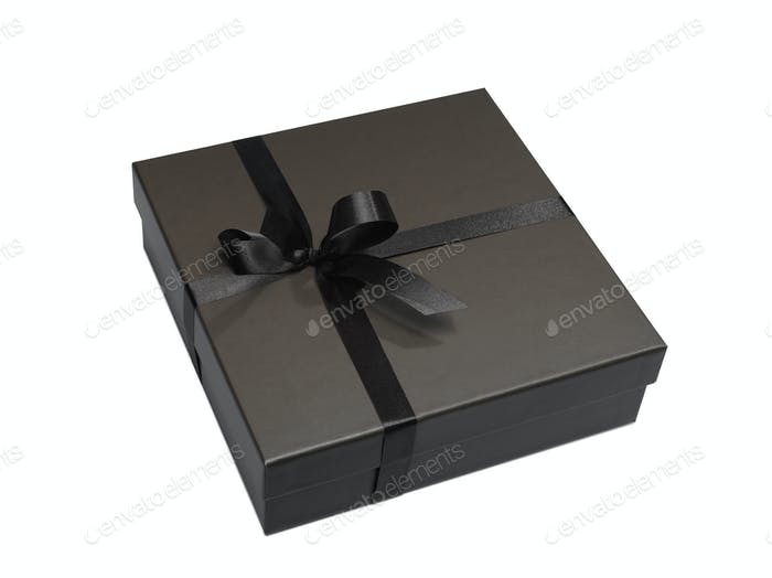 Luxurious gift box (clipping path)