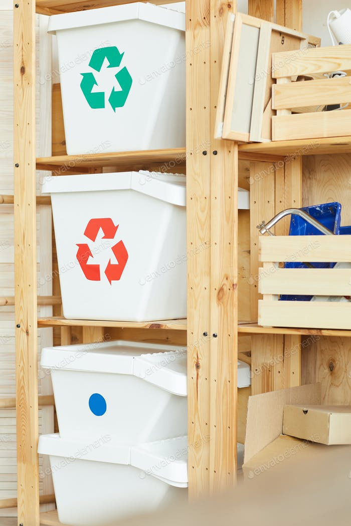Trash bins for sorted garbage