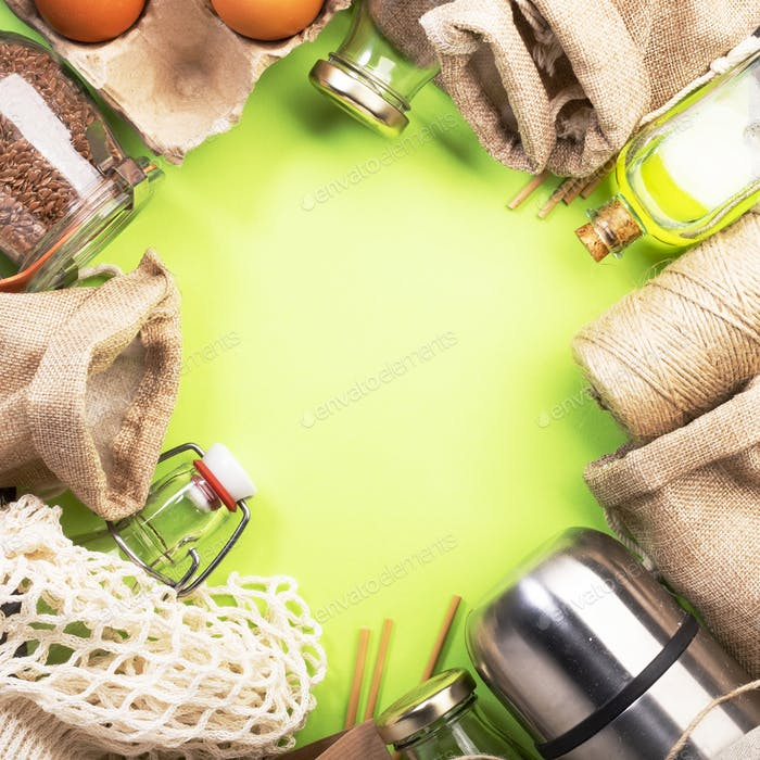 Recyclable, reusable eco friendly bags, package, bottles