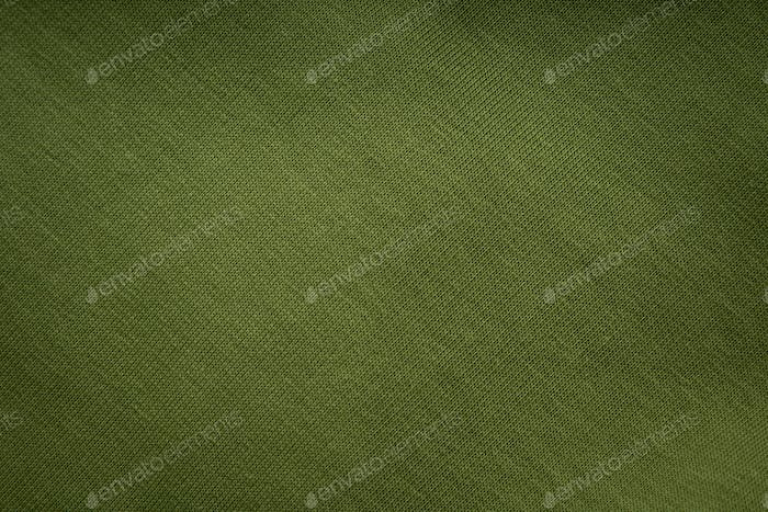 Knitted green fabric