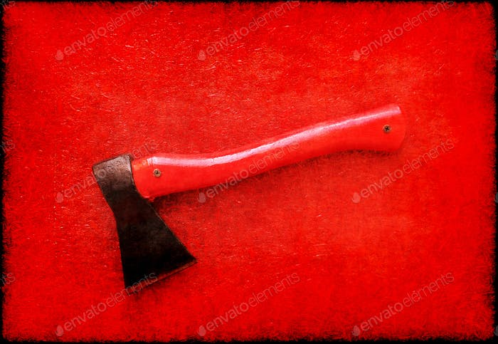 Red axe abstract background