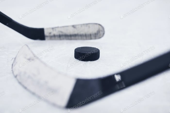 Hockey Background Closeup