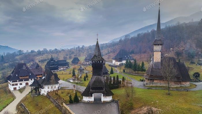 Barsana Kloster in Maramures, Rumänien.