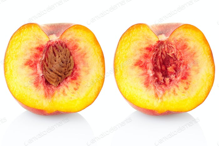 Peach fruit section