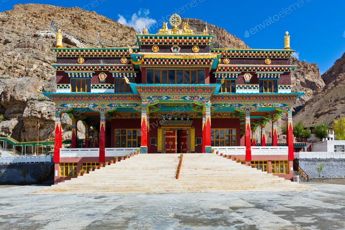 Buddhist monastery in Kaza, Spiti Valley