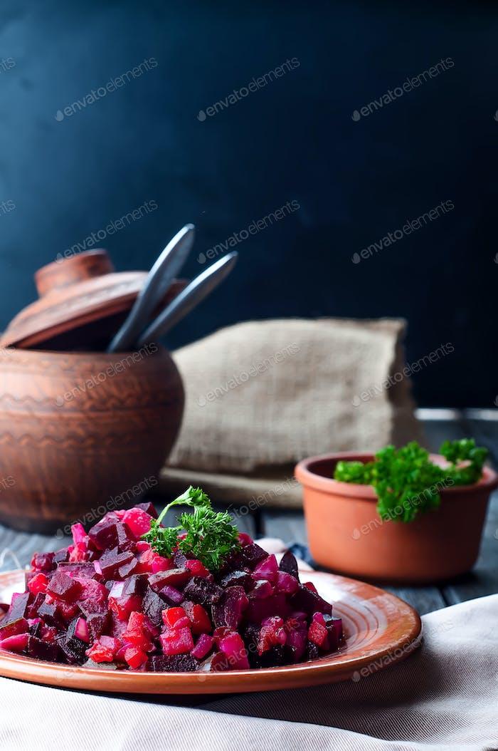beetroot salad Vinegret