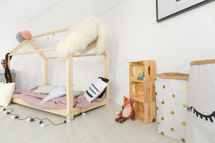 Soft pastel baby room