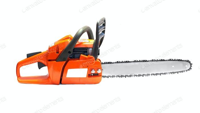 orange chain saw