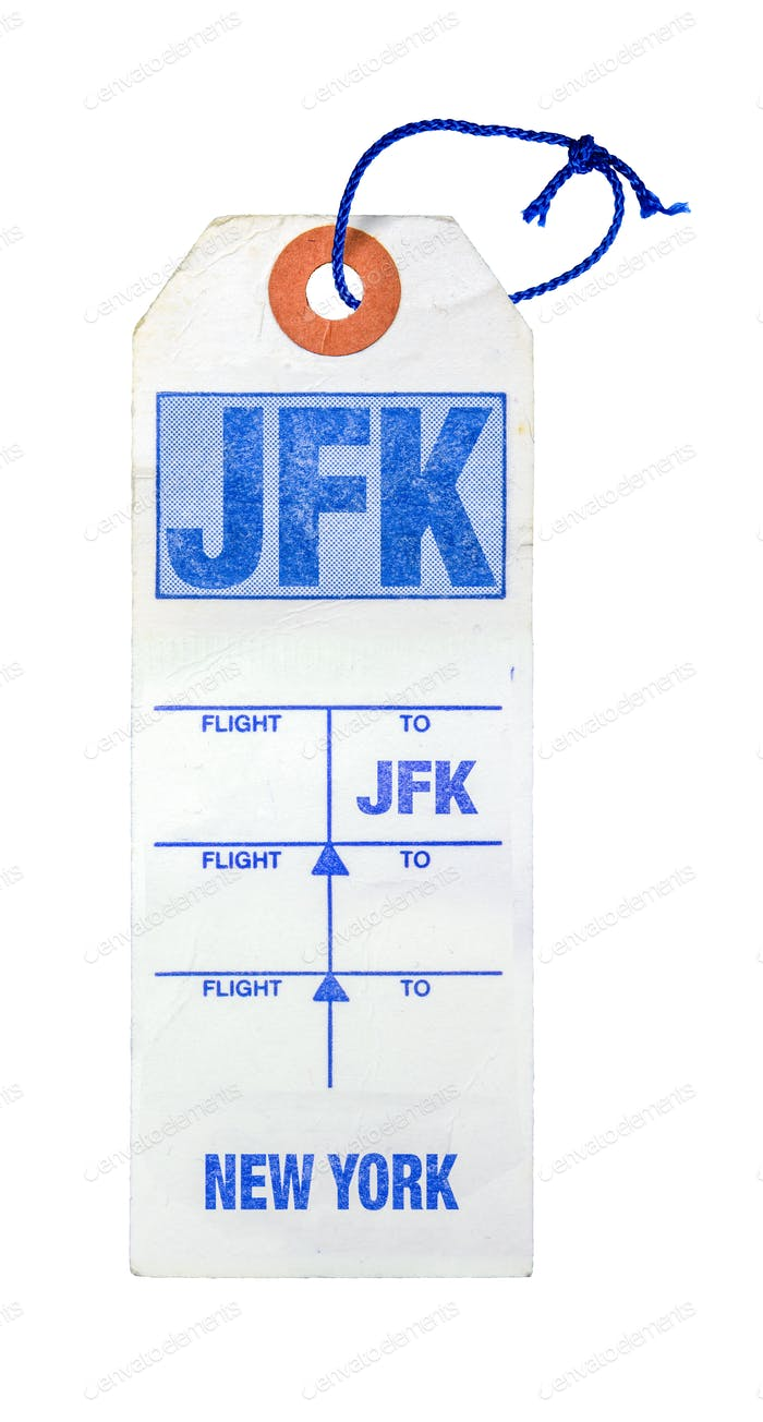Retro New York Airport Luggage Tag