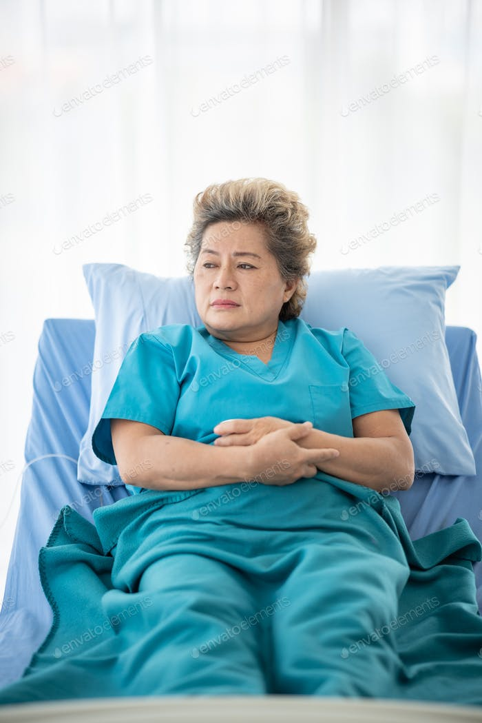 Elderly woman was lonely in the hospital, missed home.