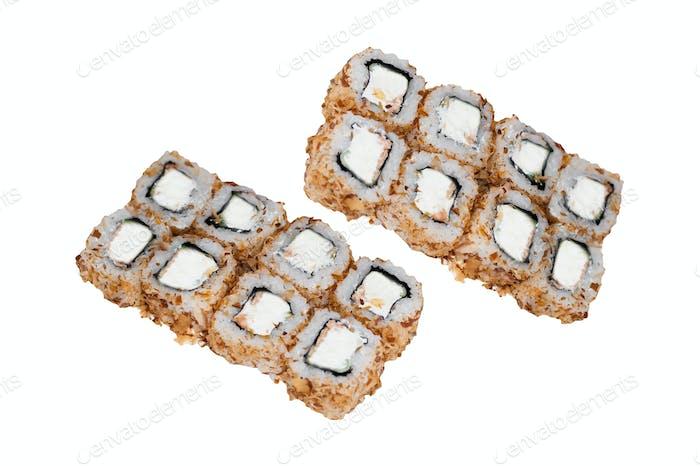 traditionelle frische japanische Sushi-Brötchen