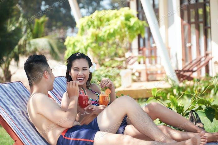 Enjoying Vacation at Luxurious Resort