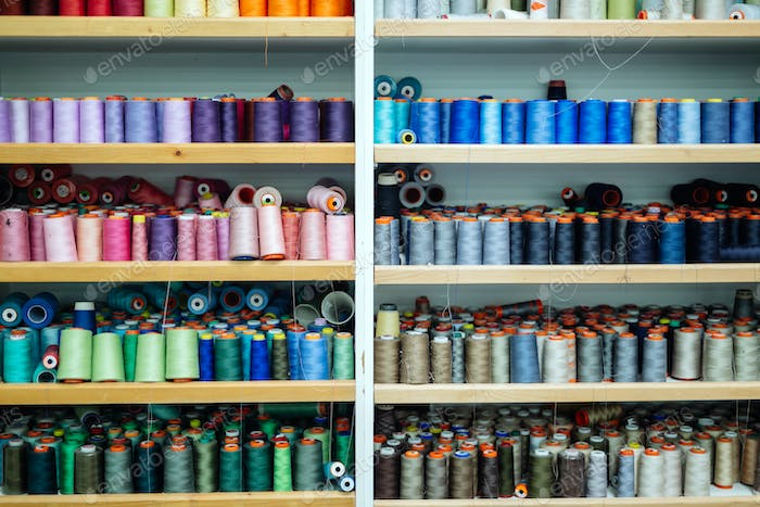 Thread spools in fabric industry