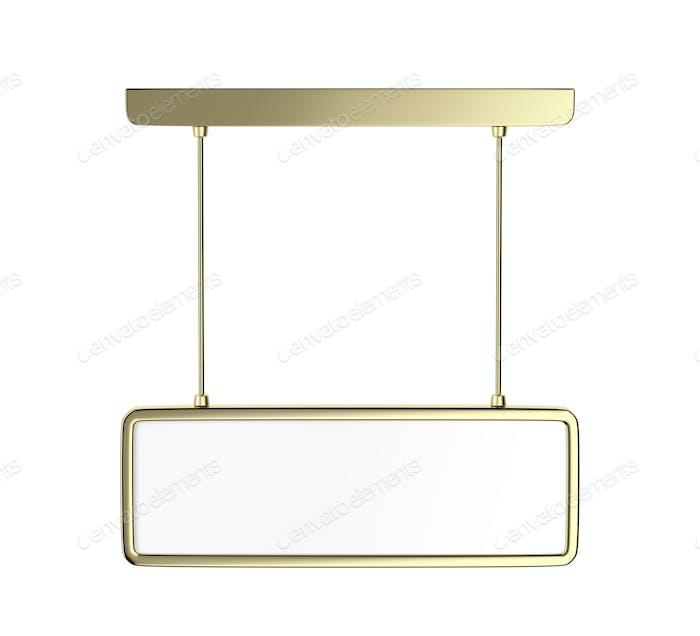Blank hanged golden panel