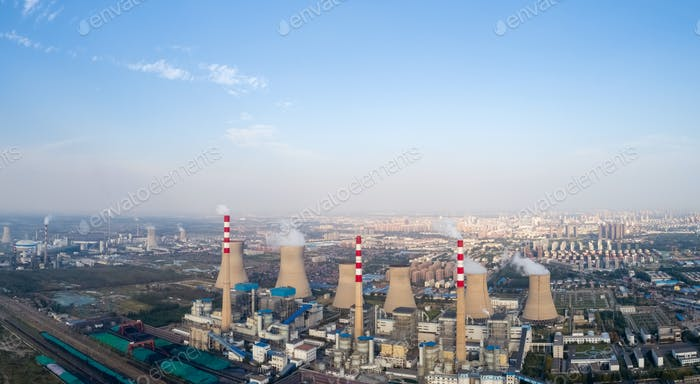 panoramic view of thermal power plant