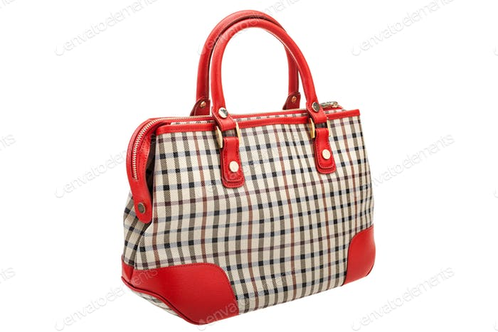 Womens bag isolated on white background.