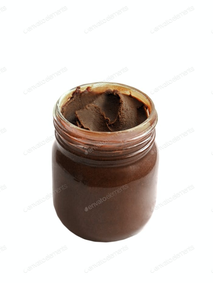 jar of chocolate cream