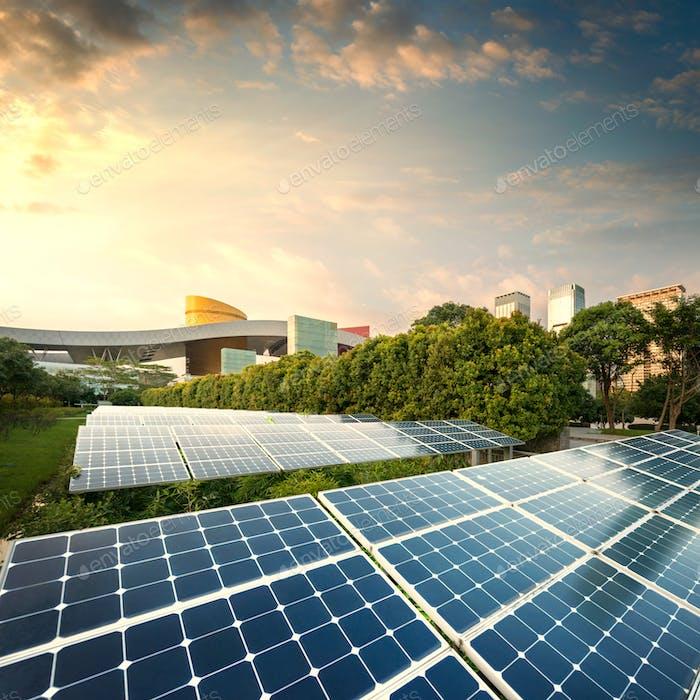 solar panels city