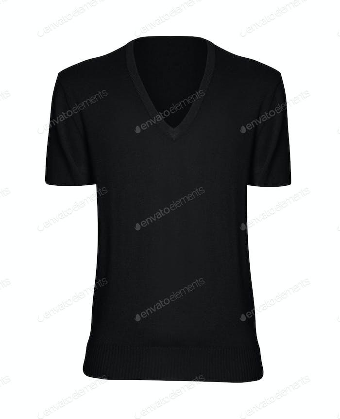 black t-shirt isolated on white