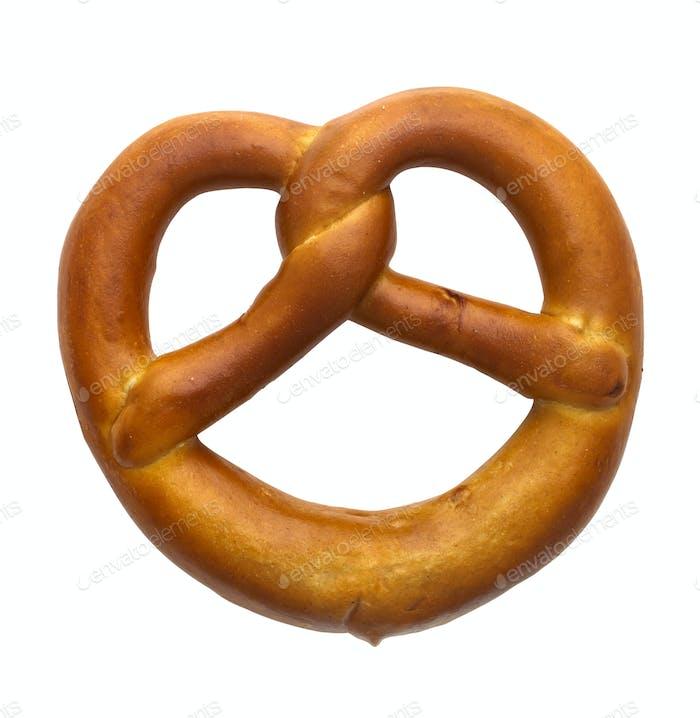 Bavarian pretzel isolated