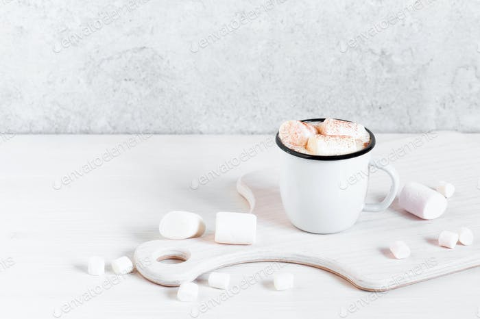 Winter Hot Beverage with Marshmallow