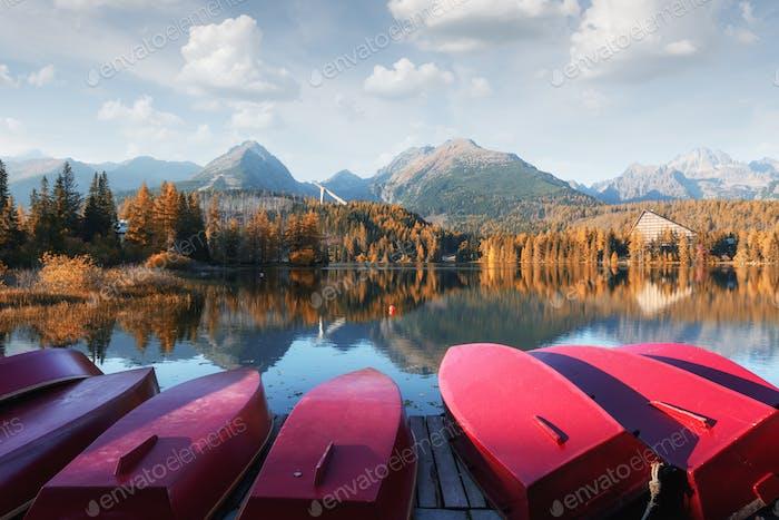 Strbske pleso See in der Slowakischen Hohen Tatra