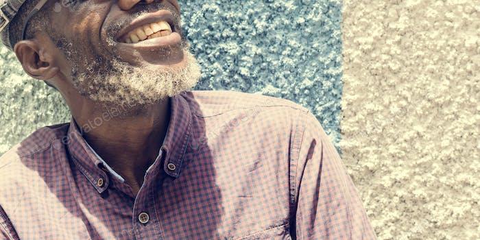 Afrikanischer Mann Lächeln Lifestyle Protrait Konzept