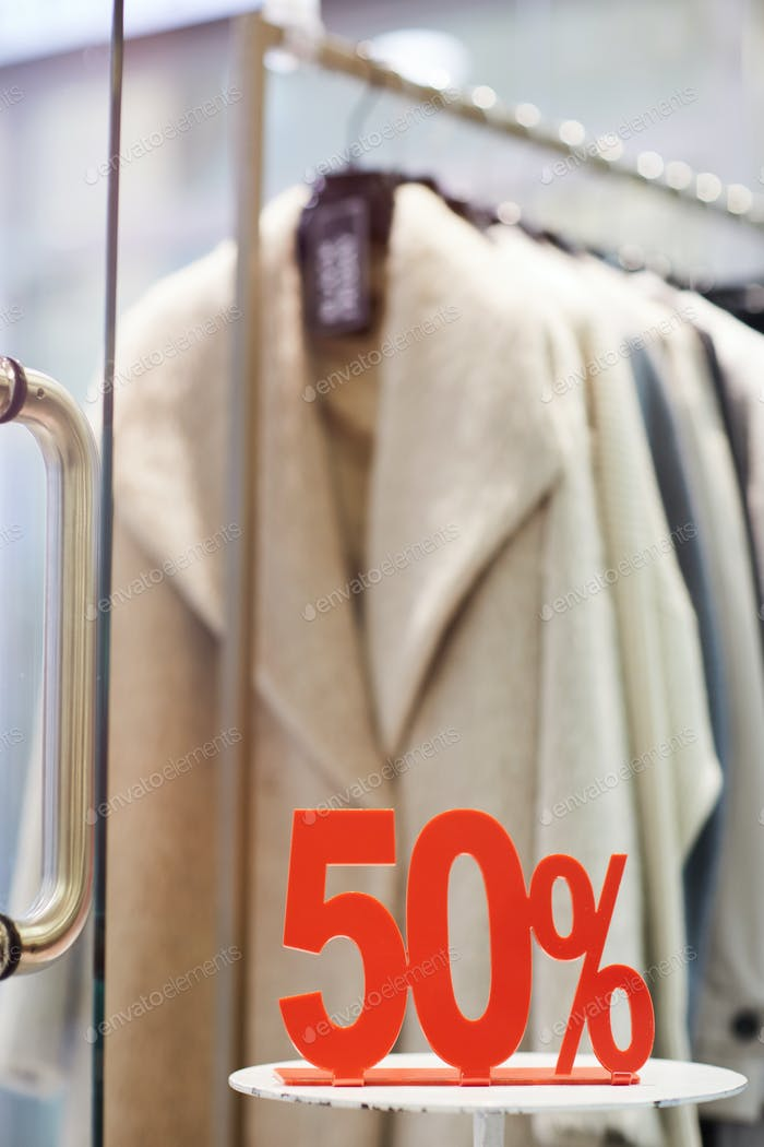 Sale in Clothing Boutique