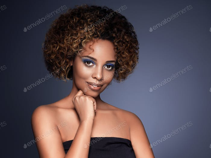 African american woman hair skin beauty
