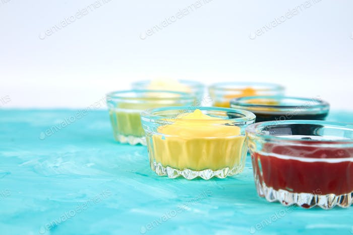 Thumbnail for Set of different sauces.