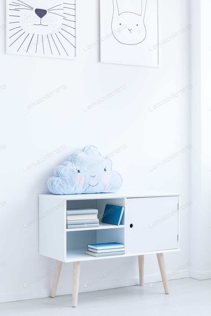 Cupboard with creative pillow