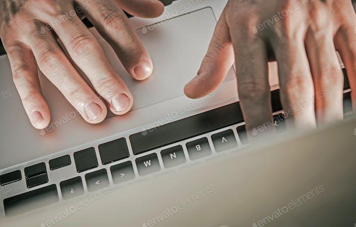 Corporate Worker Laptop Work