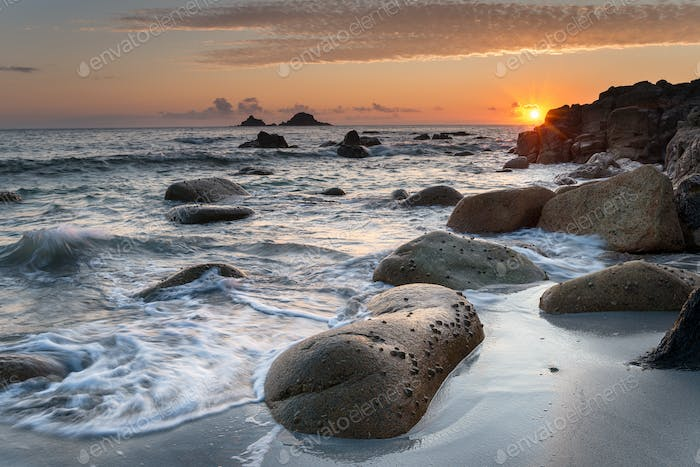 Cornish Beach Sunset
