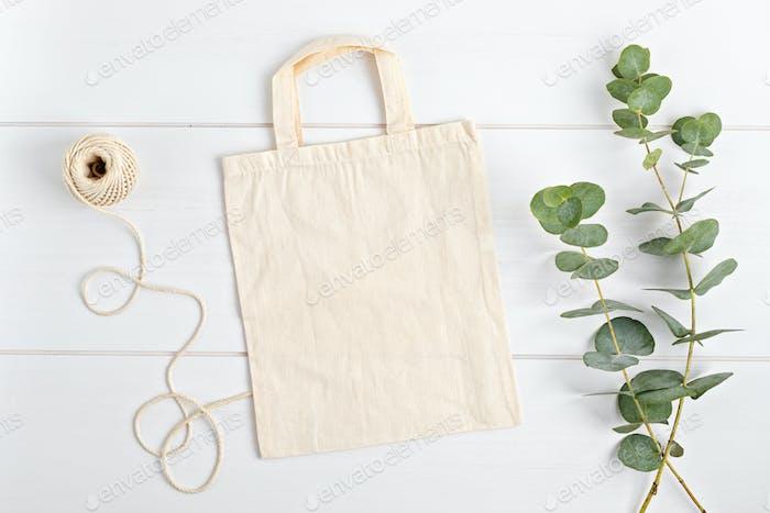 Cotton tote bag mockup. Template for branding