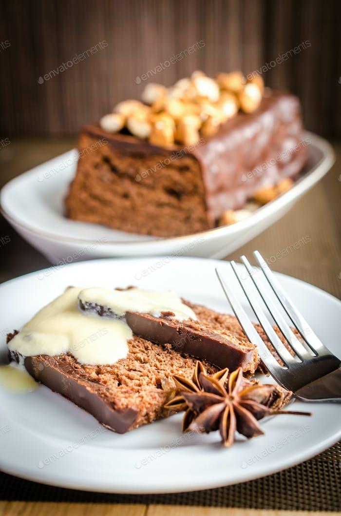 Dark angel food cake