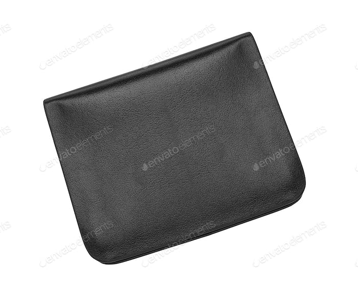 black and blue wallet isolated on white background